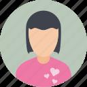 photo, profile, user, woman