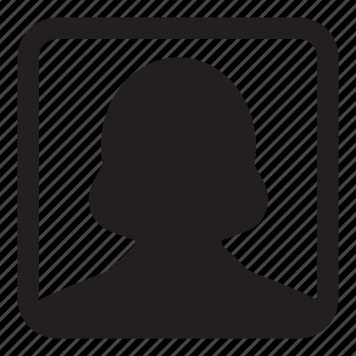 avatar, business, female, person, profile, user, woman icon