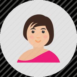 avatar, female, girl, user, woman icon