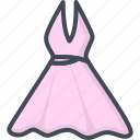 clothes, dress, evening, filled, outline, women icon