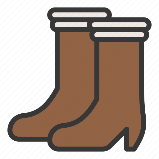 Fashion, boot, footwear, female, women icon