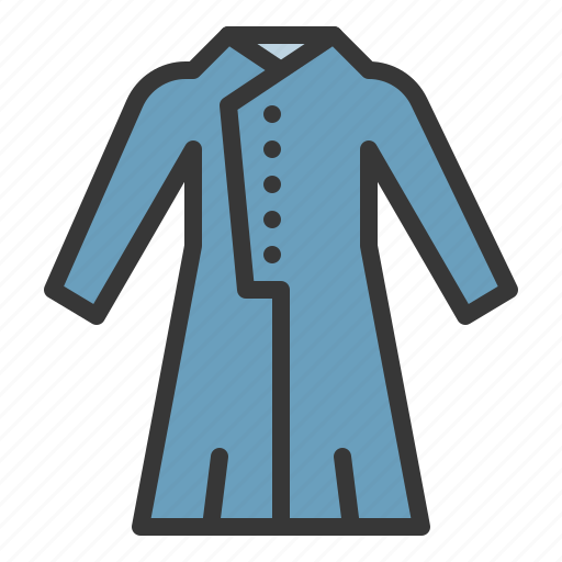 clothes, coat, dress, fashion, female, women, women's clothing icon