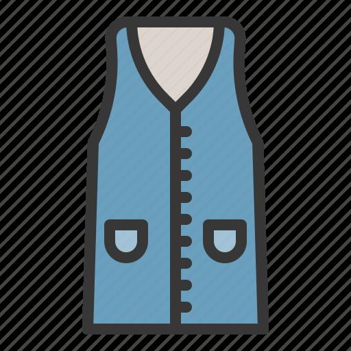 clothes, fashion, female, vest, women, women's clothing icon
