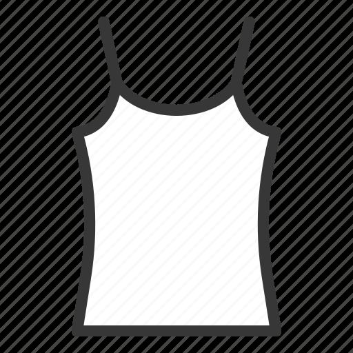 camisole, clothes, fashion, female, women, women's clothing icon