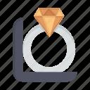 box, day, diamond, gift, ring, women, womens icon