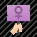 banner, female, femenine, feminism, venus, woman icon
