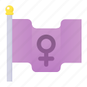 female, femenine, feminism, flag, venus, woman icon