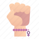 feminism, fist, gesture, hand, protest, punch, women icon