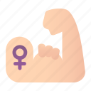 feminism, fist, gender, gestures, punch, strong, woman icon