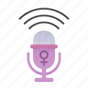 female, feminism, gender, microphone, venus, voice, woman icon