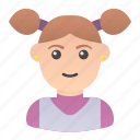 avatar, girl, kid, people, profile, user, woman icon