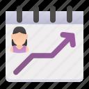 chart, graphic, statistics, stats, women icon