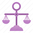 balance, equality, judge, justice, law, miscellaneous icon