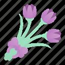 blossom, botanical, bouquet, flower, nature, tulips icon