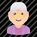 avatar, elder, grandmother, people, profile, user, woman icon