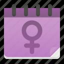 date, day, female, femenine, feminism, gender, women icon
