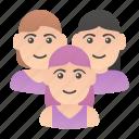 avatars, group, meeting, people, team, users, women icon