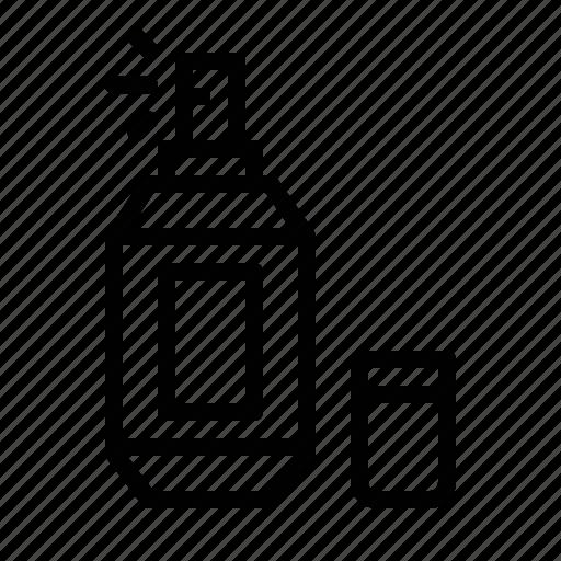aroma, bottle, fragrance, hugiene, perfume, scent, woman icon
