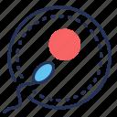 fertilization, ovum, reproduction, sperm icon