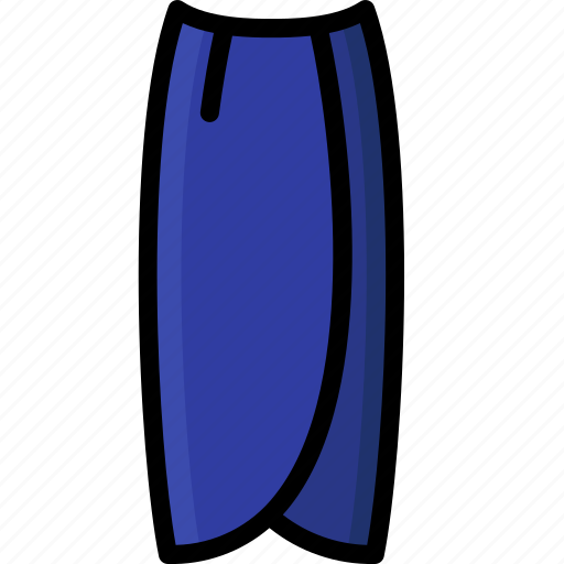 Clothing, colour, floor, length, skirt, womens icon - Download on Iconfinder