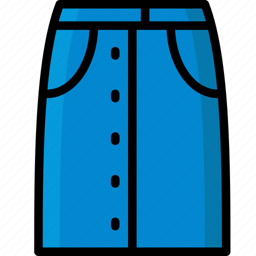 Clothing, colour, denim, skirt, womens icon - Download on Iconfinder