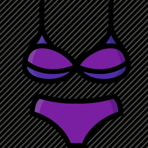 Bikini, clothing, colour, womens icon - Download on Iconfinder