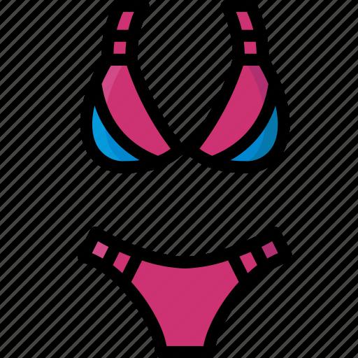 bikini, clothing, colour, womens icon