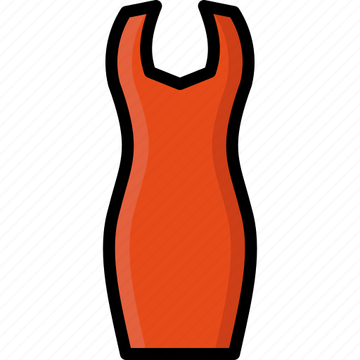 Bodycon, clothing, colour, dress, womens icon - Download on Iconfinder