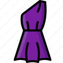 shoulder, clothing, colour, womens, dress icon