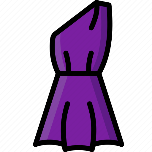 Clothing, colour, dress, shoulder, womens icon - Download on Iconfinder