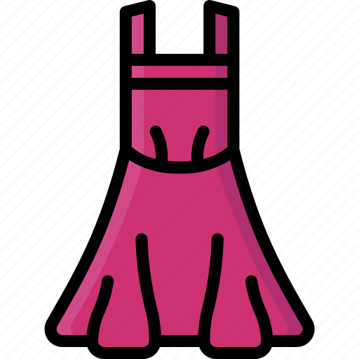 Apron, clothing, colour, dress, womens icon - Download on Iconfinder