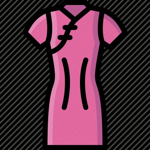 clothing, colour, dress, pao, qui, womens icon