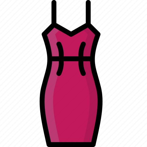 Clothing, colour, dress, slip, womens icon - Download on Iconfinder