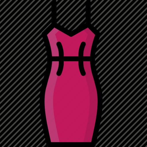 clothing, colour, dress, slip, womens icon