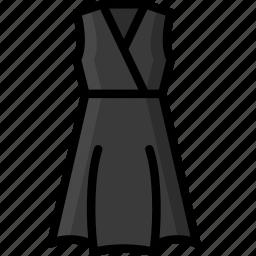 clothing, colour, dress, womens, wrap icon