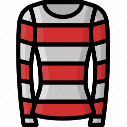 clothing, colour, jumper, stripy, womens icon