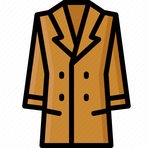 Clothing, coat, colour, long, womens icon - Download on Iconfinder