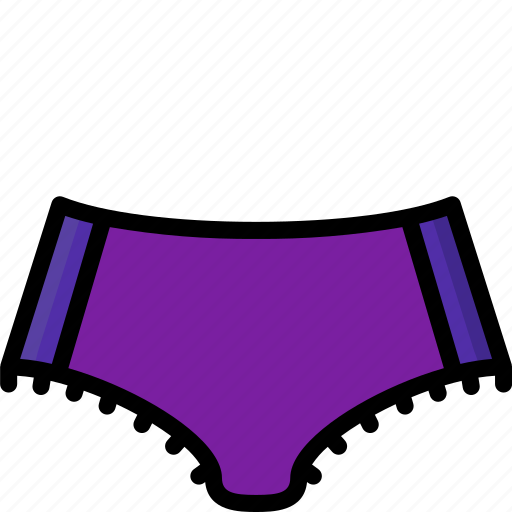 Clothing, colour, knickers, underwear, womens icon - Download on Iconfinder