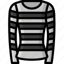 clothing, colour, jumper, stripy, womens