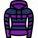clothing, colour, hoodie, stripy, womens icon