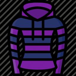 clothing, colour, hoodie, stripy, womens icon