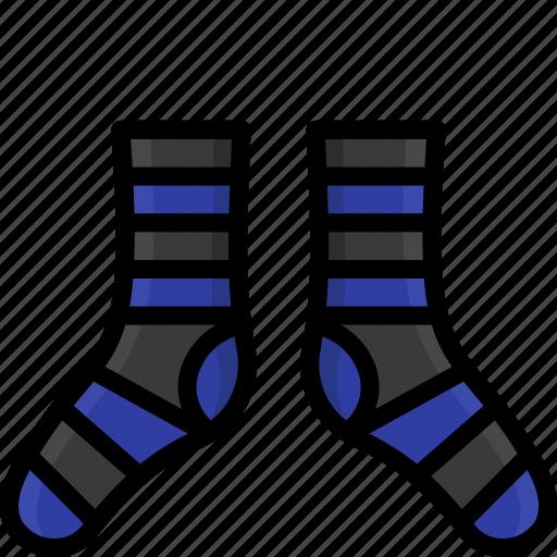 clothing, colour, socks, stripy, womens icon