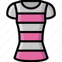clothing, colour, shirt, stripy, womens icon