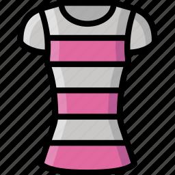 clothing, colour, shirt, stripy, womens icon