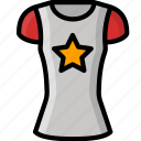 clothing, colour, shirt, star, womens icon