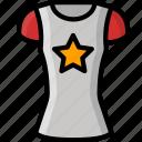 clothing, colour, shirt, star, womens