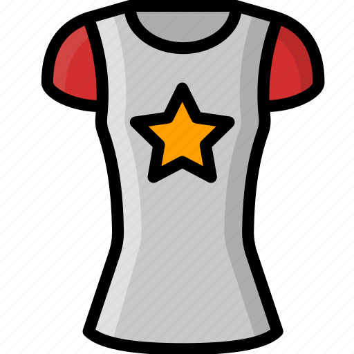 Clothing, colour, shirt, star, womens icon - Download on Iconfinder