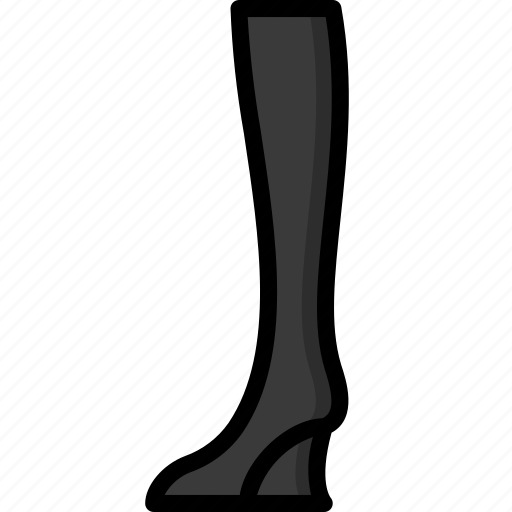 boots, clothing, colour, high, knee, wedge, womens icon
