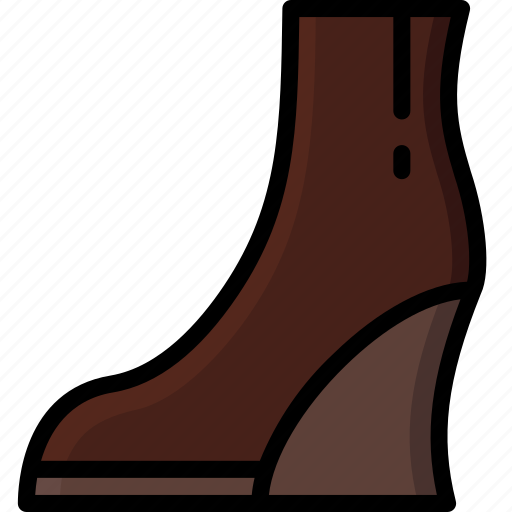 Ankle, boots, clothing, colour, wedge, womens icon - Download on Iconfinder