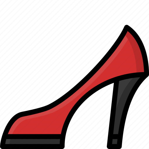 clothing, colour, heeled, high, shoes, womens icon